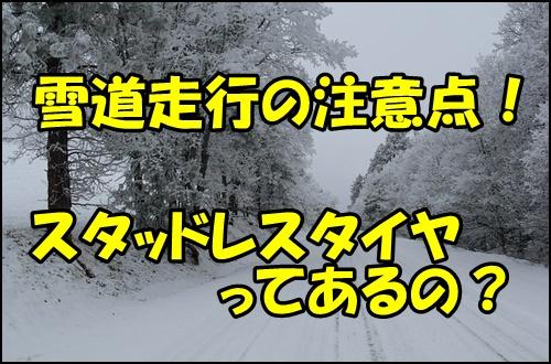 バイクでの雪道走行の注意点!スタッドレスタイヤなどの冬タイヤはあるの?