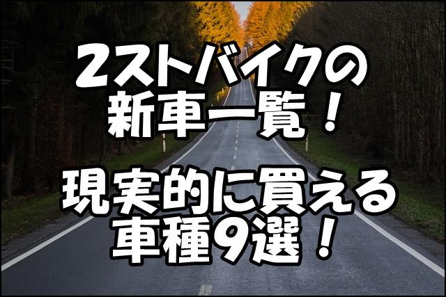 2ストバイクの新車一覧!日本で現実的に買えるおすすめ車種を紹介!