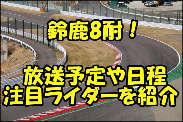 鈴鹿8耐 2019のテレビ放送予定や日程情報!注目ライダーとエントリーチームを紹介!
