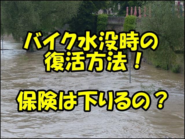 バイク水没で保険は下りる?復活方法や修理費用は?どこまで水に浸かって大丈夫?