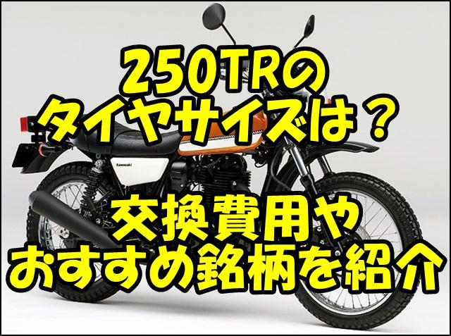 250TRのタイヤサイズと空気圧!交換費用とおすすめ銘柄を紹介!